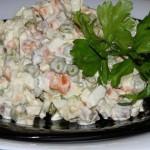 салат оливье с грецкими орехами
