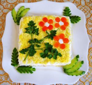 салат семь слоев